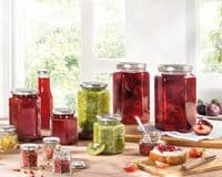 LEIFHEIT Preserving and Storage Hexagonal Glass Jar With Screw Top Lid 770ml